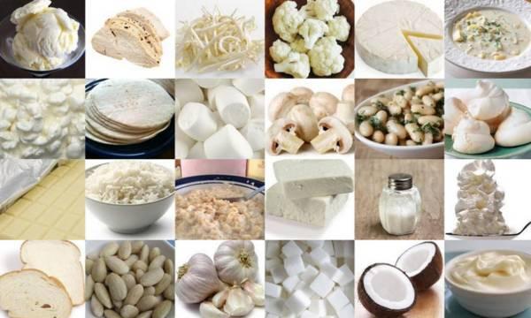 продукты для белой диеты