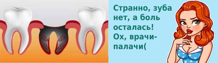 болит десна после удаления зуба